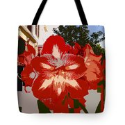 Flowering Backyard Work Number 33 Tote Bag