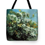 Flowering Branches And Flowers Tote Bag