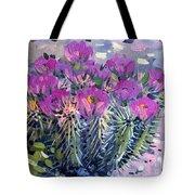 Flowering Cactus Tote Bag