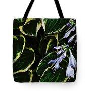 Flowering Hosta Tote Bag