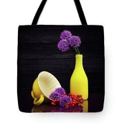 Flowering Onion With Yellow Tote Bag