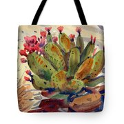 Flowering Opuntia Tote Bag