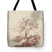 Flowering Plant With Buds Tote Bag