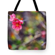 Flowering Quince In Spring Tote Bag