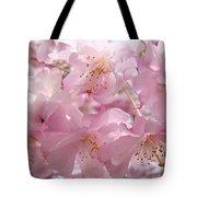 Flowering Tree Art Prints Spring Pink Blossom Flowers Baslee Tote Bag