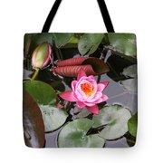 Flowering Water Lily Tote Bag