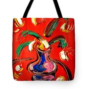 Flowers Abstract Tote Bag