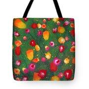 Flowers Afloat Tote Bag