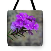 Flowers Against The Wall Tote Bag