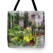 Flowers Along The Pathway Tote Bag