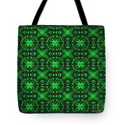Flowers And Bees Abstract Tote Bag