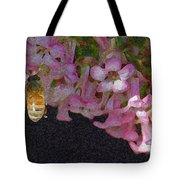 Flowers And Bees Tote Bag