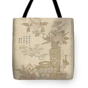 Flowers And Burning Censer, Anonymous Tote Bag