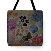Flowers And Butterfly Tote Bag