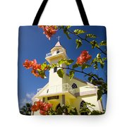 Flowers And Church On Takapoto Atoll Tote Bag