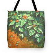 Flowers And Earth Tote Bag