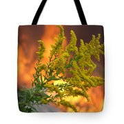 Flowers And Flames Tote Bag