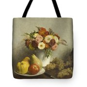Flowers And Fruit 1865 Tote Bag