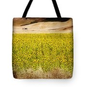 Flowers And Horses Near Setinil Spain Tote Bag