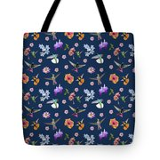 Flowers And Hummingbirds 2 Tote Bag by Rachel Lee Young