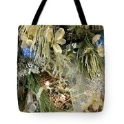 Flowers And Icicles Tote Bag