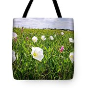 Flowers And Landscapes Along Texas Highway Roadside In Spring Tote Bag