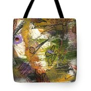 Flowers And Leaves Iv Tote Bag