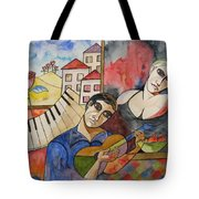 Flowers And Music Tote Bag