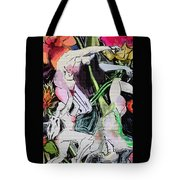 Flowers And Nudes  Tote Bag