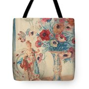 Flowers And Porcelain Tote Bag