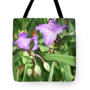 Flowers And Raindrops Tote Bag