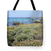 Flowers And Surf Tote Bag