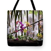 Flowers And Waterfall Tote Bag
