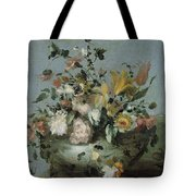 Flowers, Anonymous, C. 1700 - C. 1799 Tote Bag