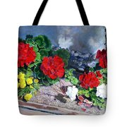 Flowers At Church Tote Bag