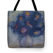 Flowers At Night Original Abstract Gothic Surreal Art Tote Bag