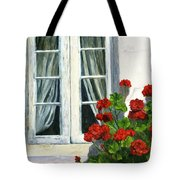 Flowers At The Window Tote Bag