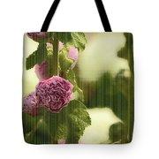 Flowers Behind The Screen Tote Bag