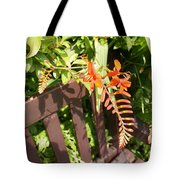 Flowers' Bench Tote Bag