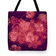 Flowers, Buttons And Ribbons -shades Of Burbundy Rose Tote Bag