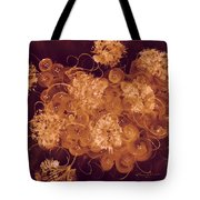 Flowers, Buttons And Ribbons -shades Of Burnt Umber Tote Bag
