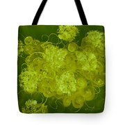 Flowers, Buttons And Ribbons -shades Of Chartreuse Tote Bag