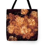 Flowers, Buttons And Ribbons -shades Of  Chocolate Mocha Tote Bag