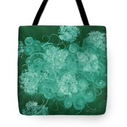 Flowers, Buttons And Ribbons -shades Of Green Tote Bag
