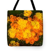 Flowers, Buttons And Ribbons -shades Of Orange/yellow  Tote Bag