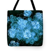 Flowers, Buttons And Ribbons -shades Of  Turquoise Tote Bag