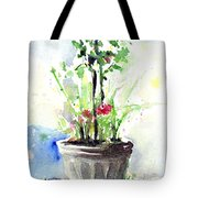 Flowers By The Pool Tote Bag
