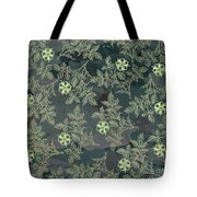 Flowers Fabric Print Design Tote Bag