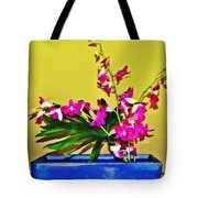 Flowers In A Blue Dish - Japanese House Tote Bag