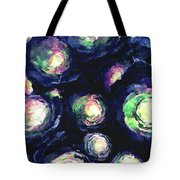 Flowers In A Blue Garden Tote Bag